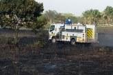 Incendio forestal en Paz de Ariporo controlado por la comunidad con apoyo de Bomberos y Cruz Roja