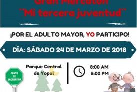 """#EnAudio El """"Gran Mercatón,  Mi Tercera Juventud, se realizará mañana sábado 24 de marzo de 2018"""" te invitamos a participar."""