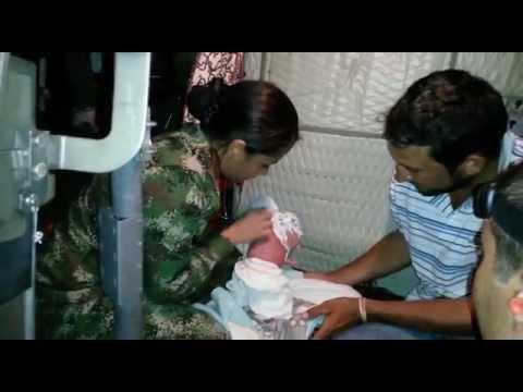 En Hato Corozal, Ejército y Fuerza Aérea evacuan madre en riesgo tras dar a luz
