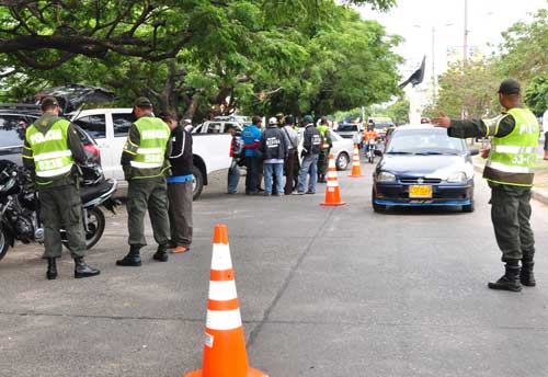 Fuertes operativos de control policial en Yopal