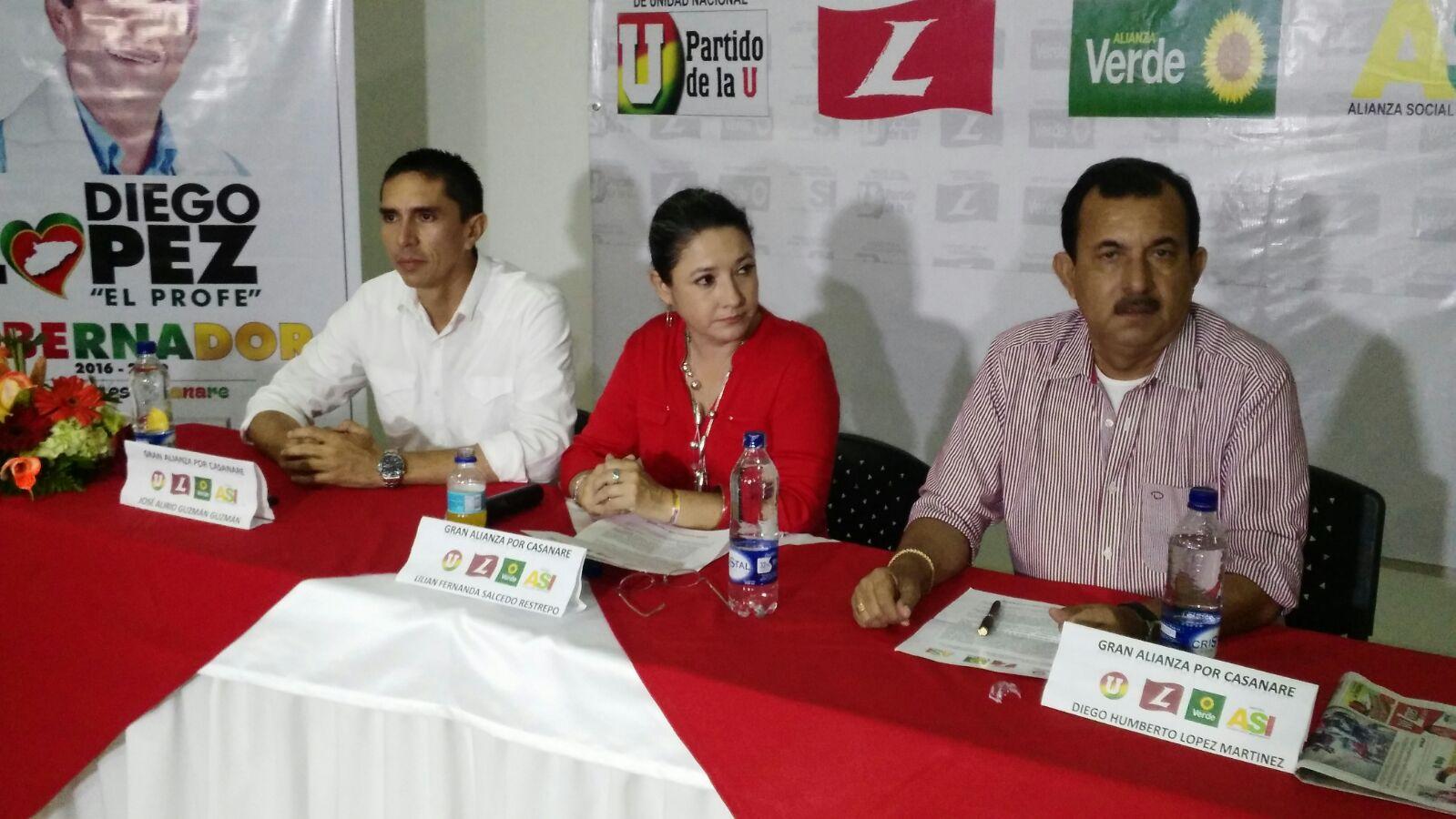 En torno a Fernanda Salcedo se unen dos candidatos a la Gobernación