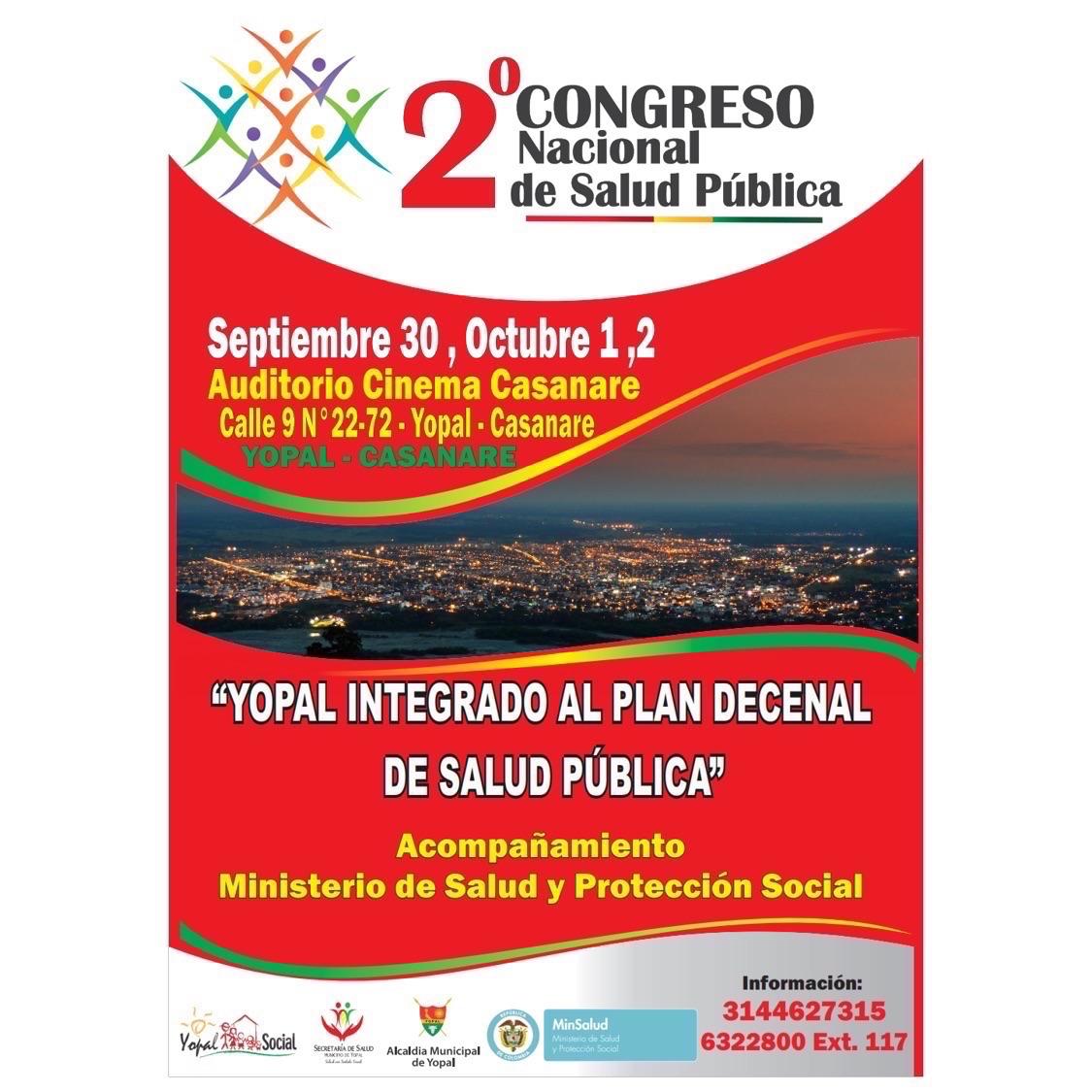 Mañana en Yopal será el Segundo Congreso Nacional de Salud Pública