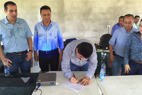Firman acta de inicio de anillo vial Yopal-Matepantano-El Venado
