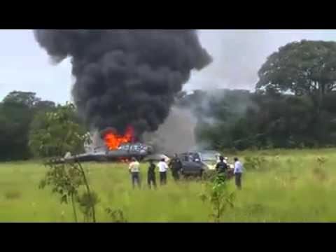 Accidentado helicóptero de la Policía.