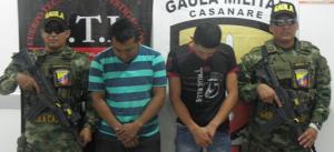 Capturados extorsionistas que delinquían a nombre de las FARC
