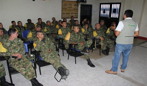 Corporinoquia capacitó en temas ambientales a miembros del Ejército