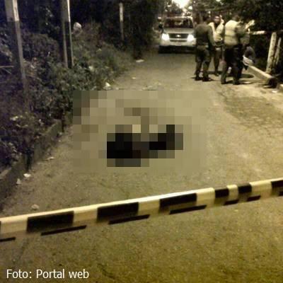 Una persona murió de forma violenta en Villanueva.
