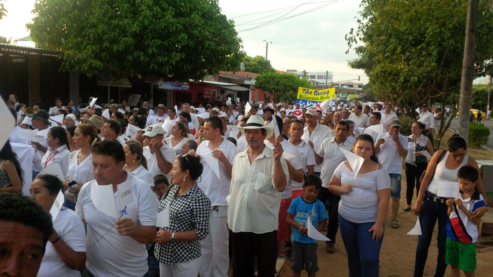 Villanueva en marcha pacífica exigió libertad del comerciante Tito Cuenca
