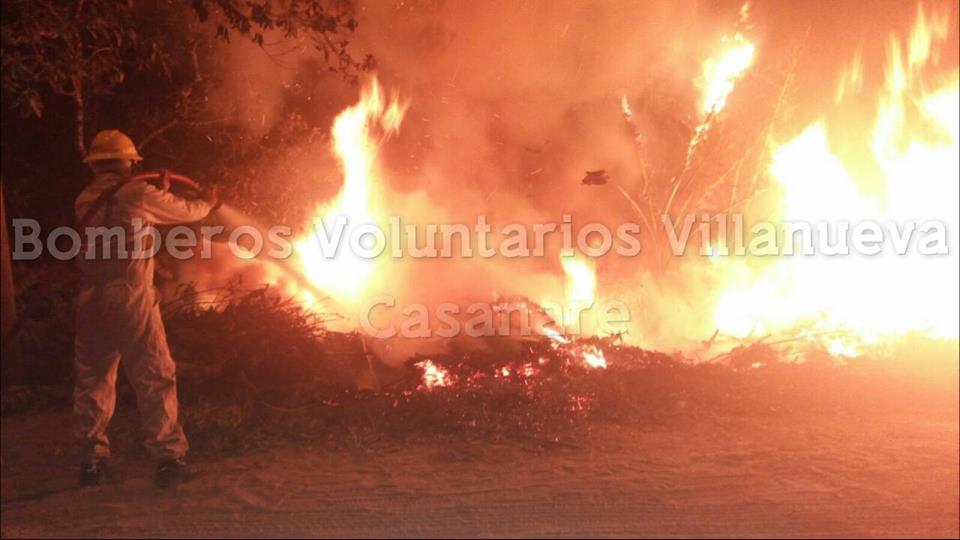 Incendio forestal en Villanueva