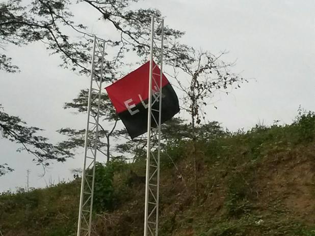 Con artefacto explosivo en Paz de Ariporo y banderas en Cupiagua transcurre paro armado del ELN