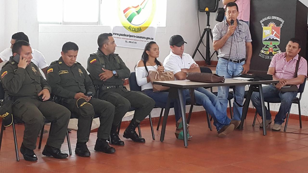 Se adelantó reunión en Paz de Ariporo entre autoridades y ganaderos para tratar exclusivamente el delito del Abigeato