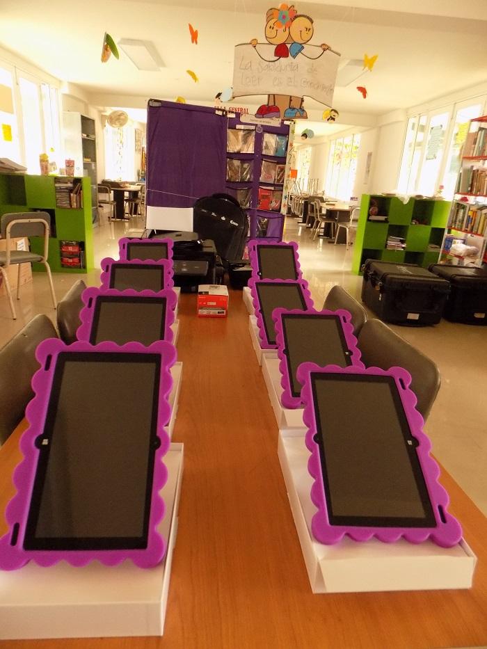 Biblioteca de Sabanalarga recibió dotación tecnológica