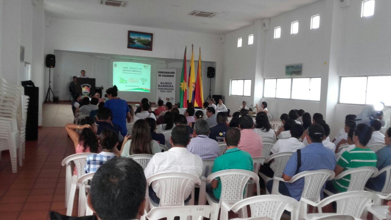 [AUDIO] Se desarrolló en Paz de Ariporo el Foro Educativo Departamental 2016