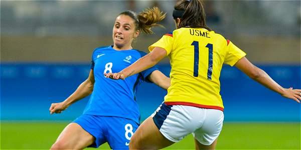 La selección femenina de Francia venció 4-0 a Colombia