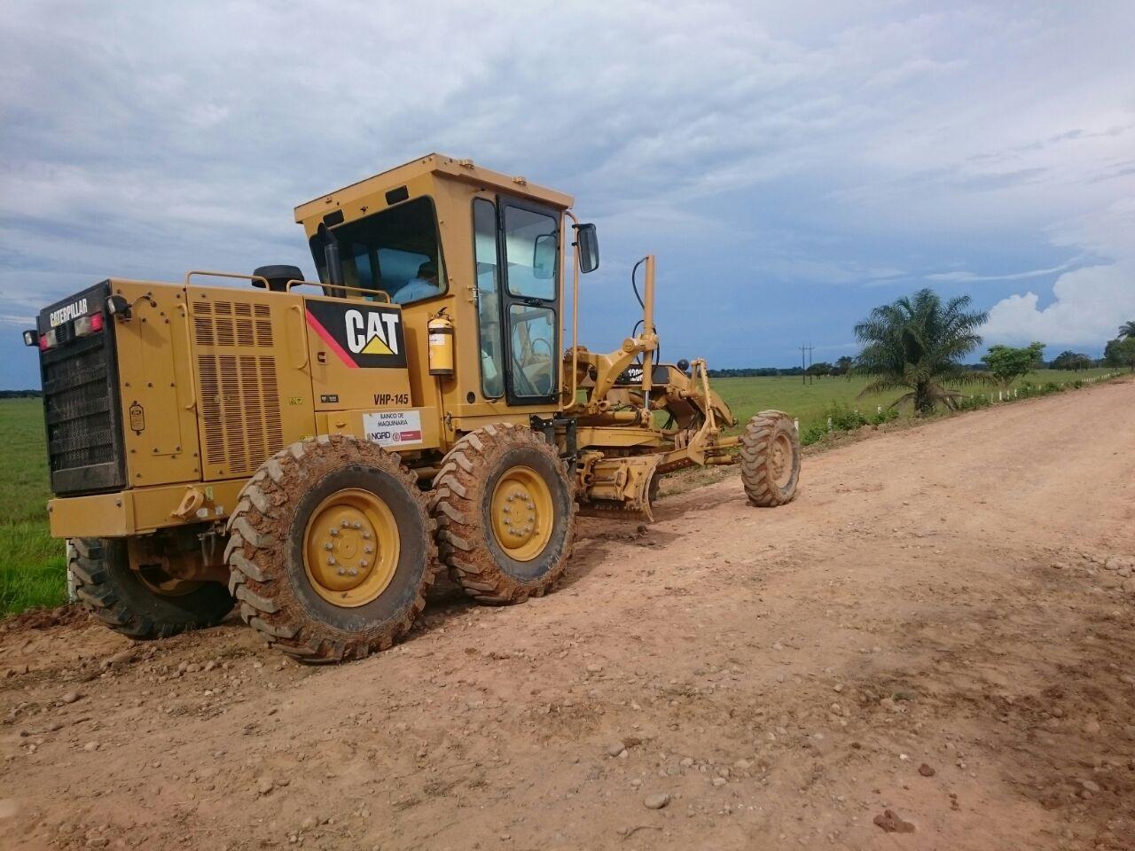 Administración municipal de Trinidad sigue realizando trabajos de mejoramiento en la vía Bocas del Pauto