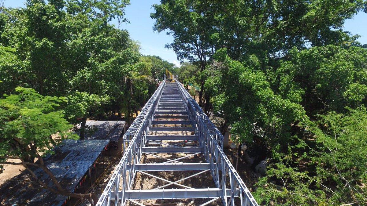 Puente peatonal en río Charte funcionaría desde este fin de semana
