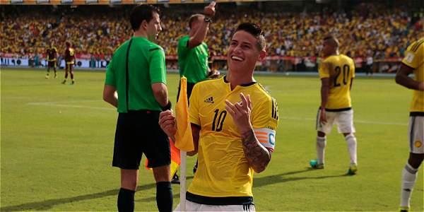 James Rodríguez, la figura de Colombia en la victoria contra Venezuela