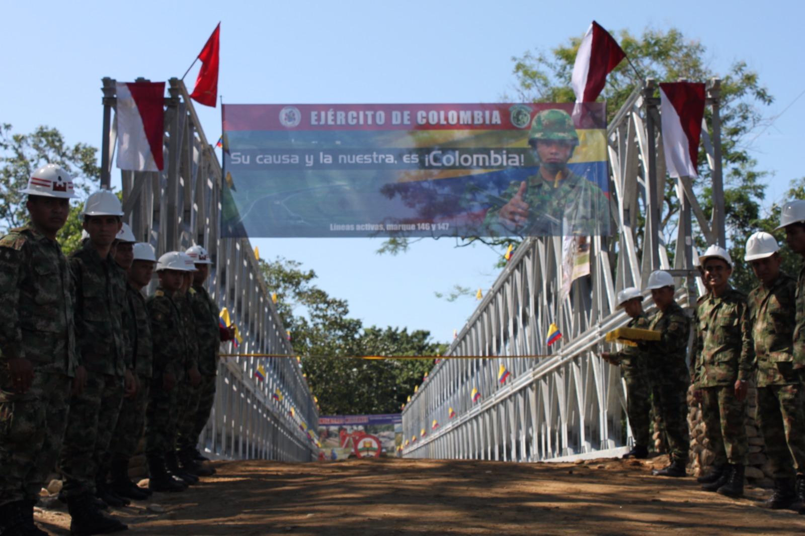 Ingenieros militares construirán desde hoy puente metálico en el río Charte