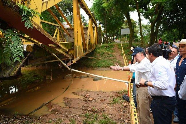 AUDIO  | El 15 de noviembre estará listo un puente metálico en el río Charte: Santos