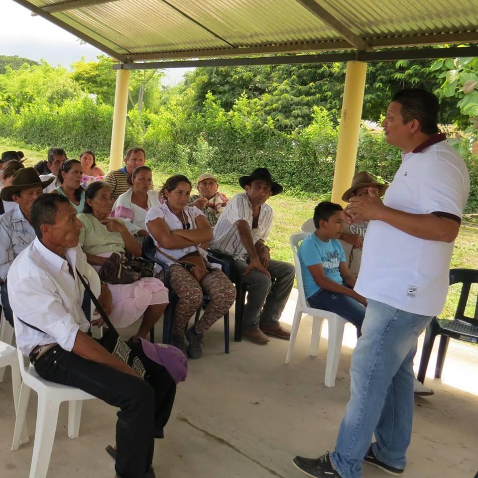 Diputado Homero Eduardo Abril invita a sectores rurales con transformadores averiados reportarlo para hacer seguimiento y control.