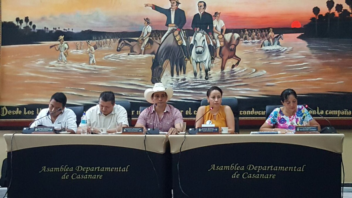Asamblea de Casanare autorizó al Gobernador vigencias futuras 2017 en proyectos prioritarios