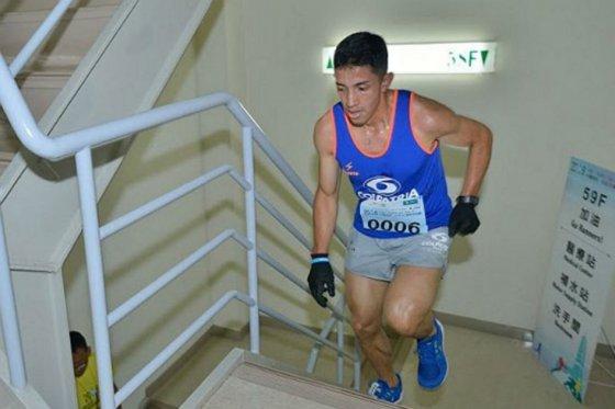 Frank Carreño, único colombiano en la clasificación mundial del towerruning