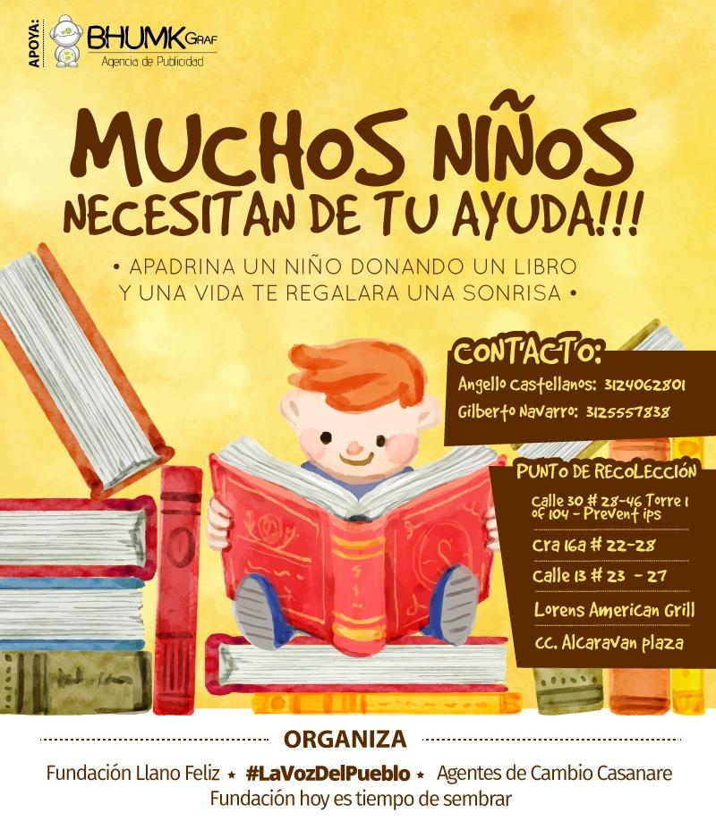 La iniciativa solidaria libros para el campo llega a las veredas más alejadas.