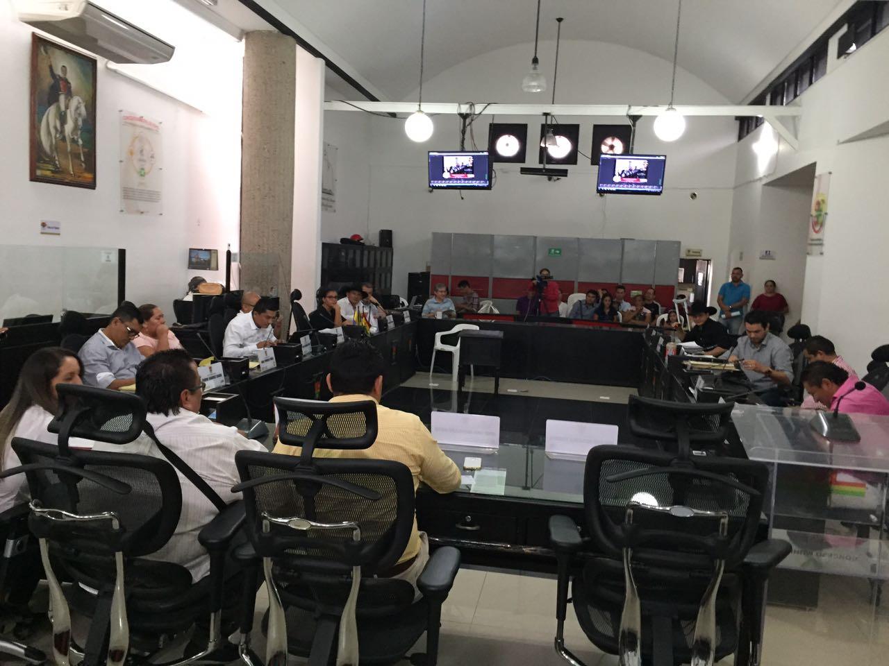 A esta hora se realiza la instalación de las sesiones extraordinarias en el Concejo de Yopal