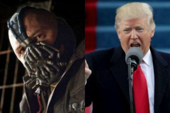 En su posesión, Trump pronunció frase sacada de una película de Batman