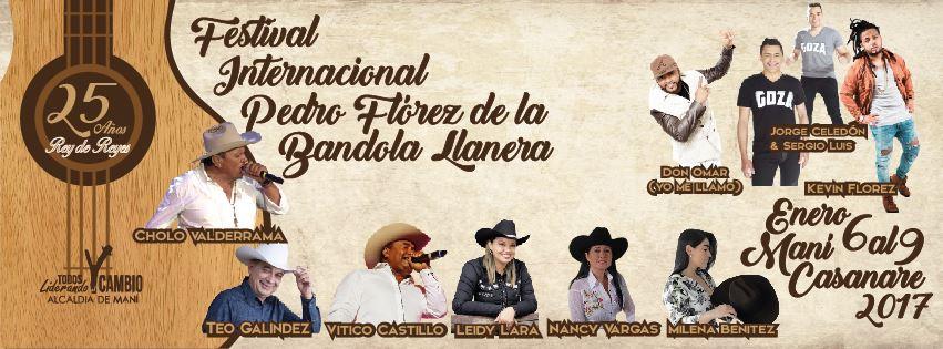 Audio | Arranco el Festival internacional Pedro Flórez y va 9 de enero de 2017, en Maní Casanare.