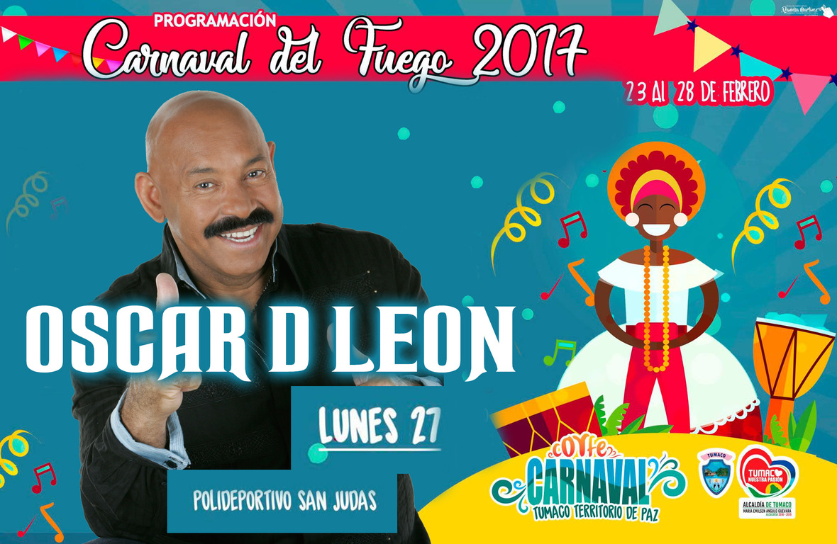 Oscar D'León en concierto en El Carnaval de Barranquilla