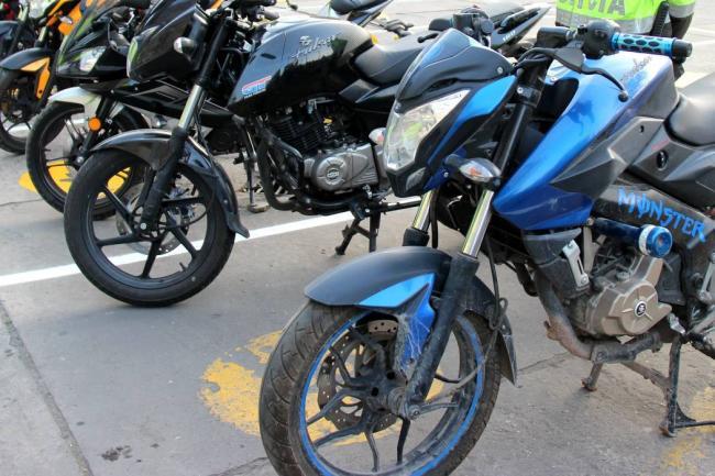 Captura en flagrancia por hurto y recuperación de motocicleta