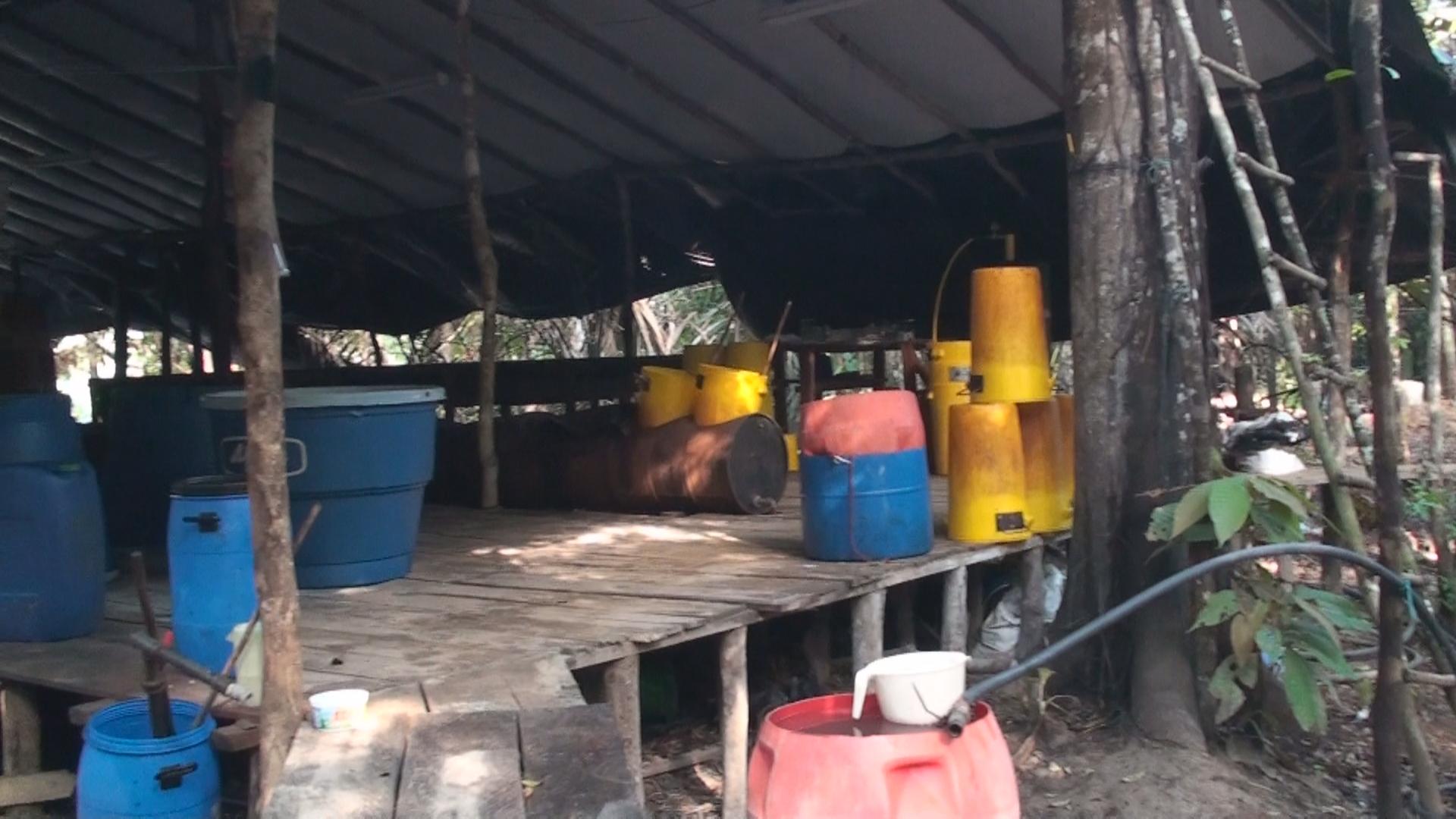 En el Meta Policía destruyó laboratorio artesanal para el procesamiento de Base de Cocaína