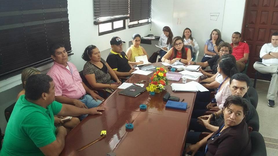 líderes comunales de Yopal reunidos con la administración
