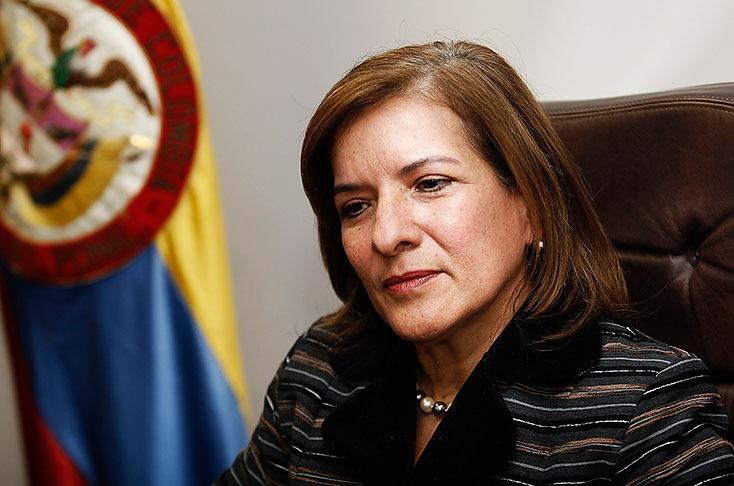 Margarita Cabello, presidenta de la corte suprema participó de la inauguracion del palacio de justicia.