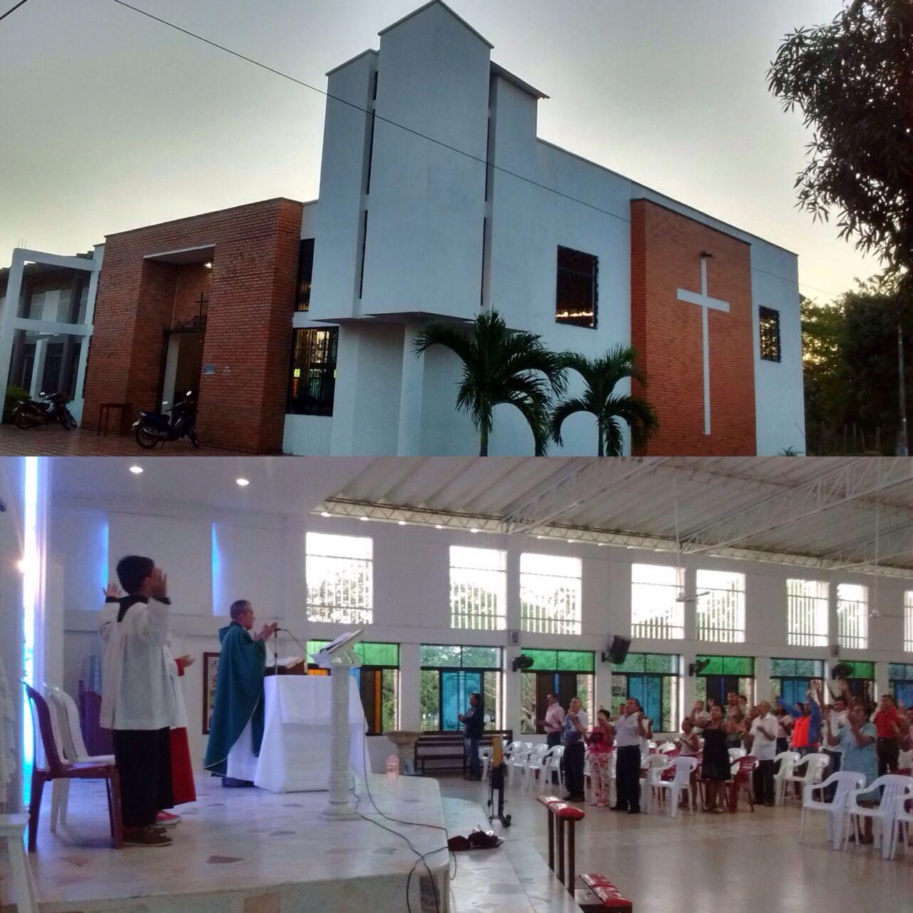 En directo la santa misa con el sacerdote Braulio Bohórquez Parroquia el espíritu santo Calle 29 31A40 barrio Villa benilda Yopal