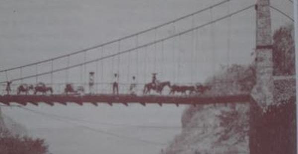 #violetaenlahistoria: Un día como hoy se construyó primer puente colgante de Latinoamérica
