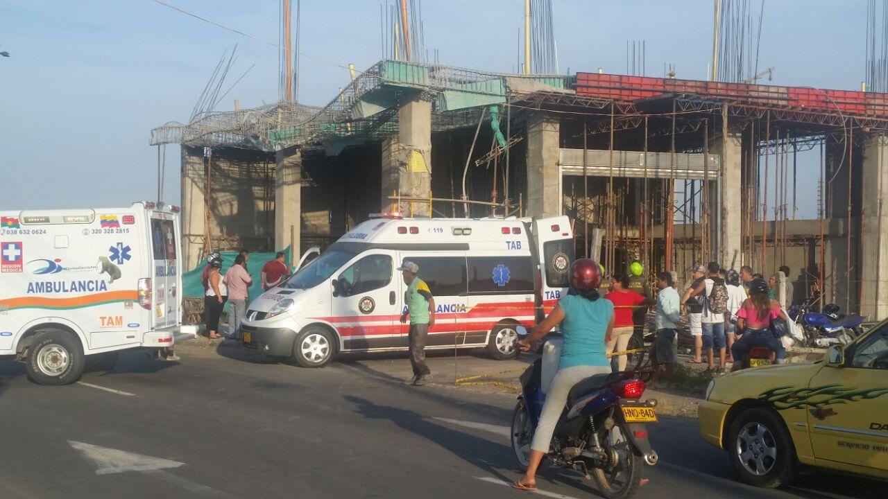 Hombre se cayó de un edificio en construcción