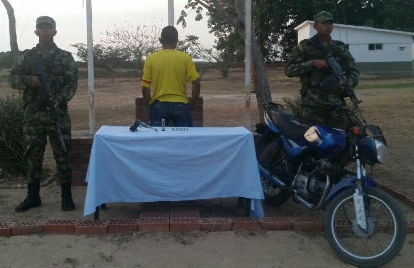 Capturado sujeto por el delito de fabricación, tráfico y porte de armas