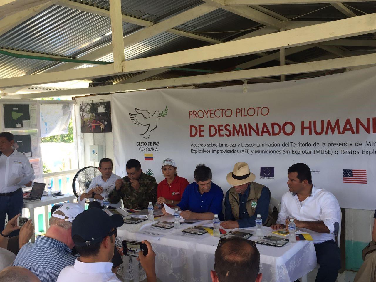 El Meta recibió certificación de territorio libre de sospecha de minas antipersonales para la vereda Santa Helena, en Mesetas