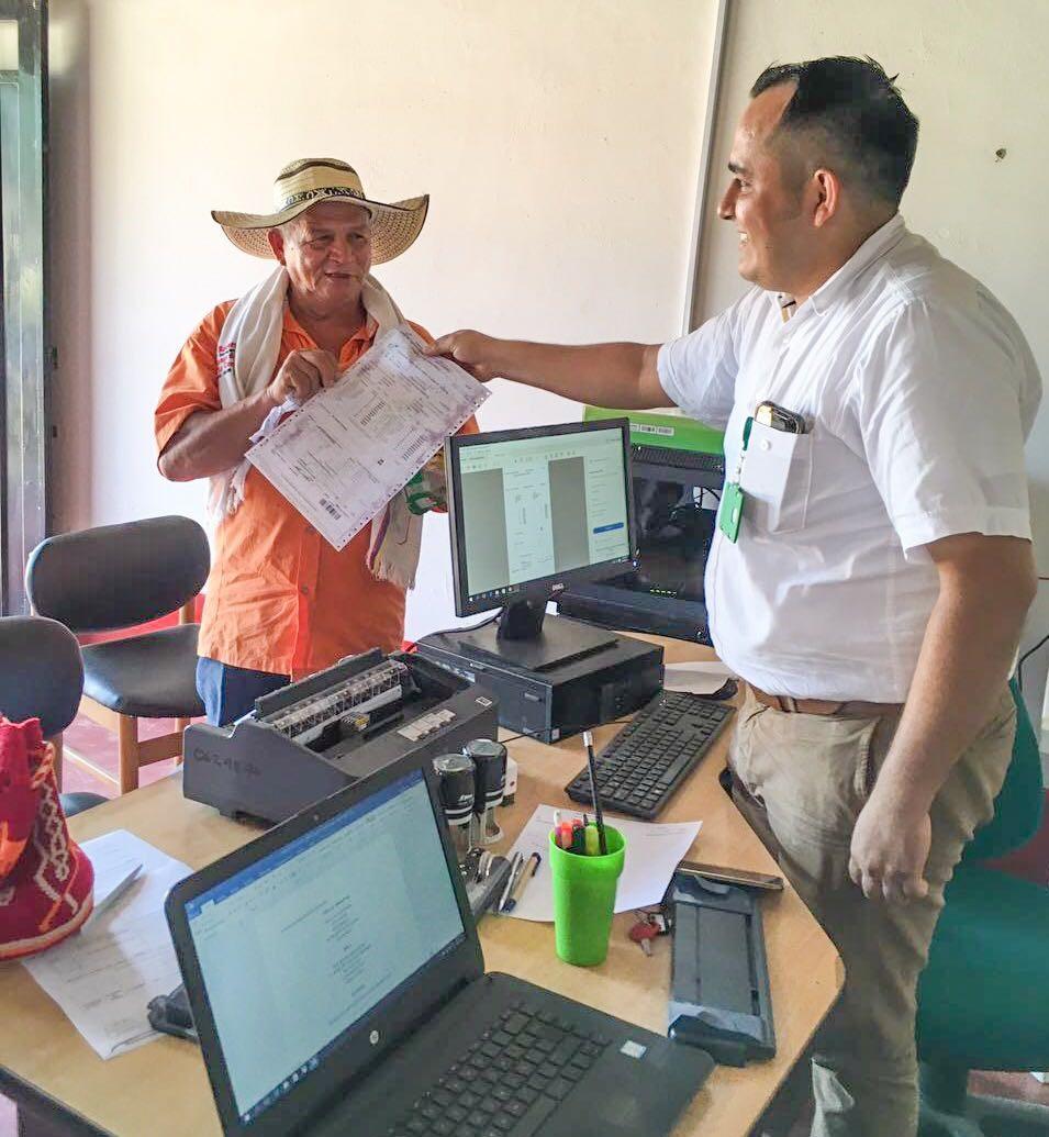 Se expidió la primera guía de movilización de ganado en el punto de atención ganadero de la inspección de San Juan de Losada Meta