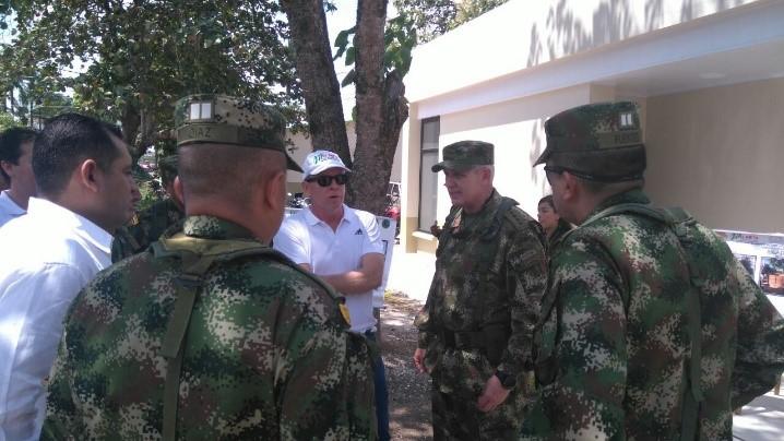 Gobernación entregó obras en la activación del Comando de Apoyo de Acción Integral del Ejército, en Granada