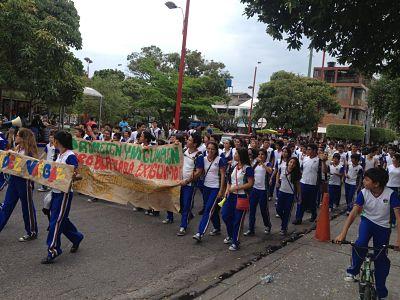 Movilización de protesta estudiantil hoy en Yopal contra la Alcaldía