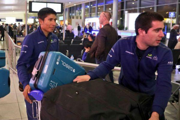 Nairo llegó a Abu Dhabi donde afrontará su tercera carrera del año