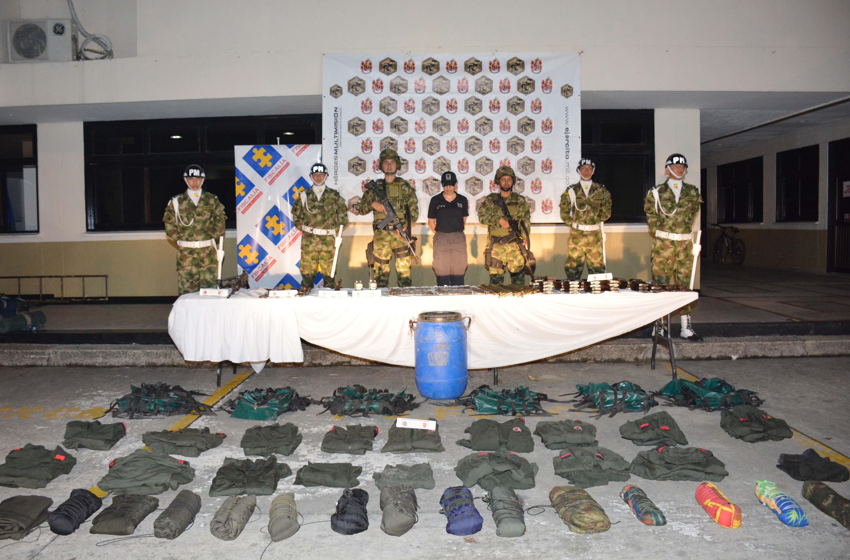 Numeroso material de guerra e intendencia es hallado por el Ejército Nacional