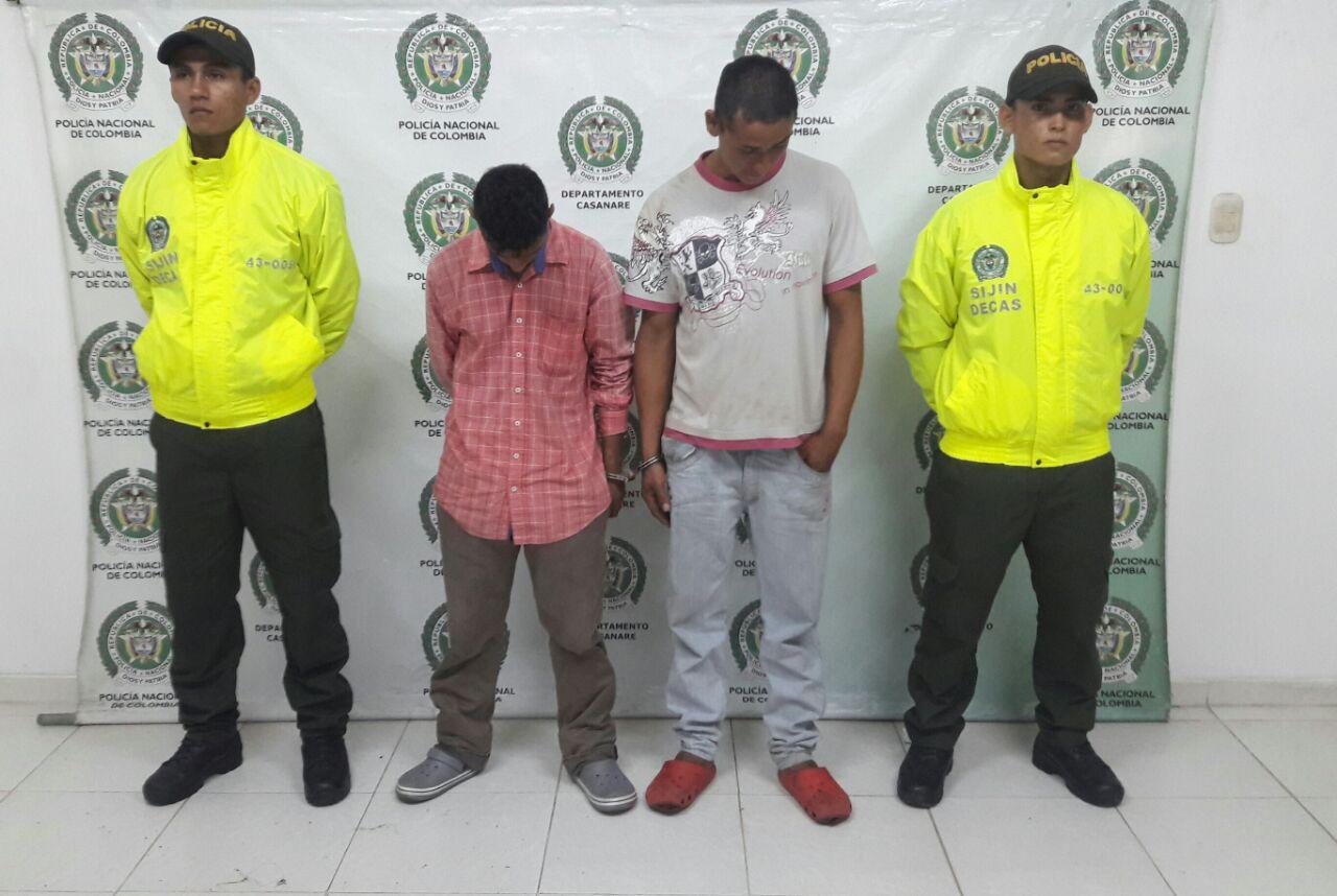 Capturados dos sujetos por hurtar reiteradamente el Sisben de Aguazul