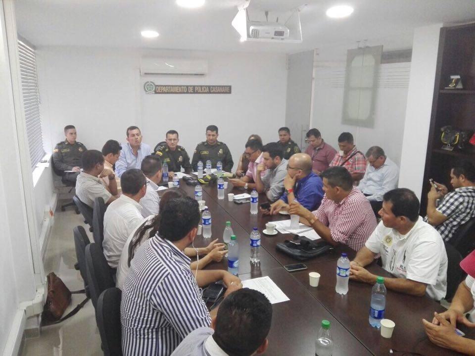 Policía y autoridades evaluaron plan de seguridad para Yopal