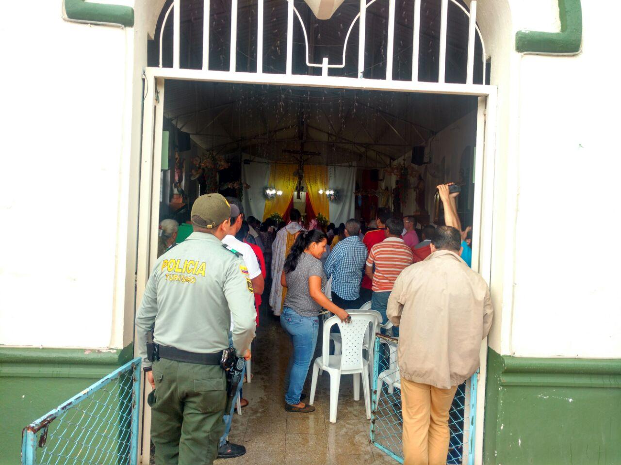 Policía de Turismo acompañó las actividades religiosas de Semana Santa en Yopal