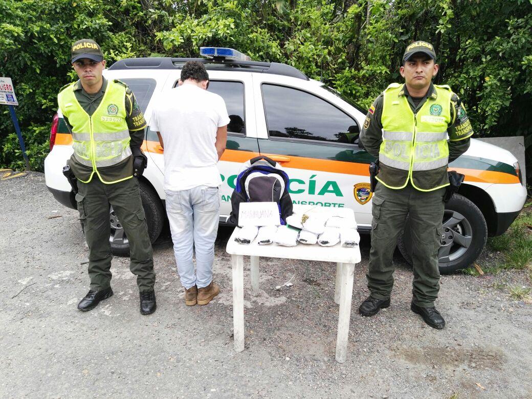 Policía capturó a un hombre en el Meta,  con 20.000 gramos de marihuana tipo Cripy