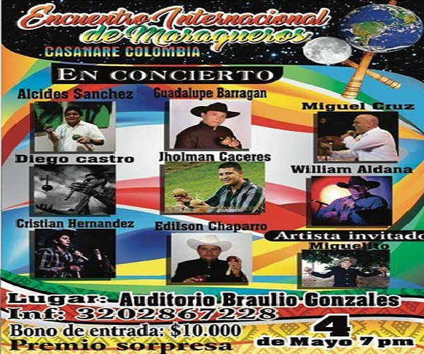 #EnAudio Encuentro internacional de maraqueros, sábado 4 de Mayo. La Cantaleta